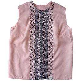 Bluse rosa Top/Oberteil 60s rosa mit Stickerei Gr. M/L