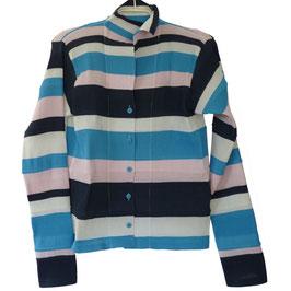 Bluse Gr. M/L gestreift ISSEY MIYAKE Designer Plissee pleats VINTAGE 1990s