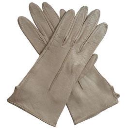 Handschuhe Gr. XS Leder hellbeige ungefüttert VINTAGE 1960s