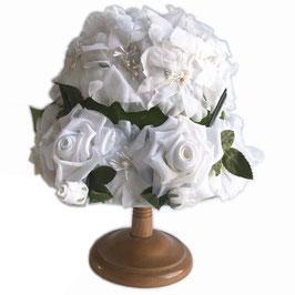 Hut weiss Blüten Cloche Wedding Hochzeit VINTAGE Gr. 53