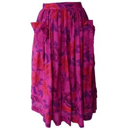 Jupe Rock Gr. M ESCADA Wolle magenta Blumen VINTAGE 1980s