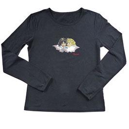 T-Shirt Gr. M/L schwarz Fiorucci Engelchen VINTAGE 1980s NOS