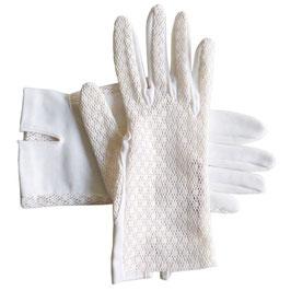 Handschuhe Gr. XS Sommer B offwhite VINTAGE 1950s