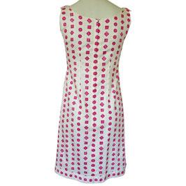 Kleid Sommerkleid oA VINTAGE 1960s BW weiss mit pink Gr. S
