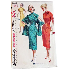 Schnittmuster SIMPLICITY 50s Kleid Asian Style Gr. XS/S Size 11