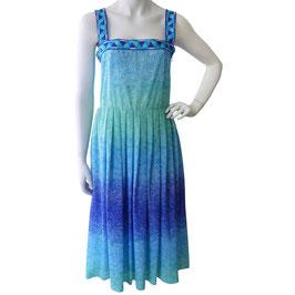 Kleid Trägerkleid aqua Farbverlauf VINTAGE 1970s Gr. S