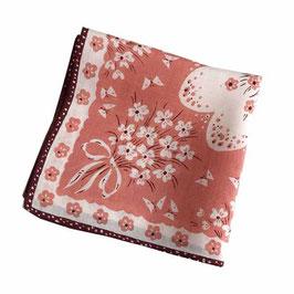 Taschentuch Damen-Taschentuch VINTAGE 1950s rot-weiss NEU, aus altem Bestand