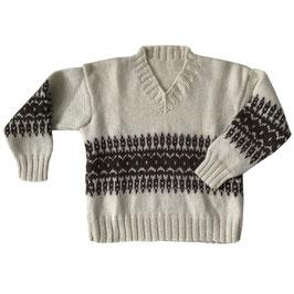 Pullover Gr. S/M/L Skipullover VINTAGE 1970s handgestrickt warm