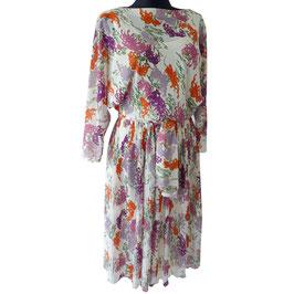Kleid Gr. M/L Dress 1970s VINTAGE Plissee Pleats