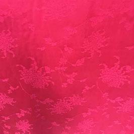 Stoff Seide Satin Jacquard China magenta 3.10 x 0.75 m VINTAGE 1980s
