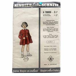 RINGIER Schnittmuster Mädchenkleidchen für 3 Jahre VINTAGE 1950s  k78006