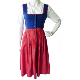 Kleid Gr. XS/S Dirndl Salzburg 2tlg VINTAGE ca. 1960s