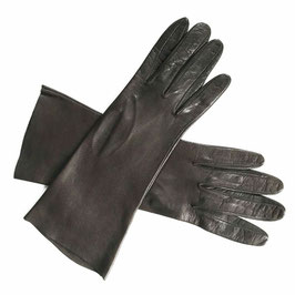 Handschuhe Gr. M Leder braun dunkelbraun ungefüttert VINTAGE 1980s
