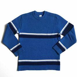 Pullover Gr. S Herren Skipullover VINTAGE 1970s blau Streifen