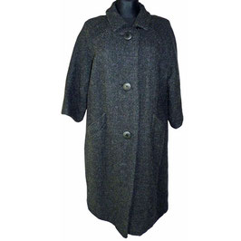 Mantel grau VINTAGE 1960s Frieda Huber Couture Gr. L/XL