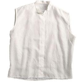 Bluse weiss oA transparent Batist mit Stehkrägli 50s Gr. M