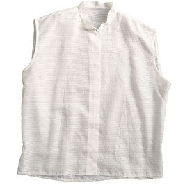 Bluse Gr. M weiss oA transparent Batist mit Stehkrägli VINTAGE 1950s