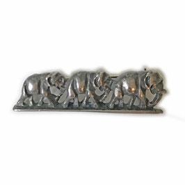 Brosche klein 3 Elefanten VINTAGE ca. 1950s