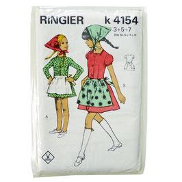 Schnittmuster RINGIER Meitlidirndl Dirndl Vintage 1960s 3/5/7 Jahre