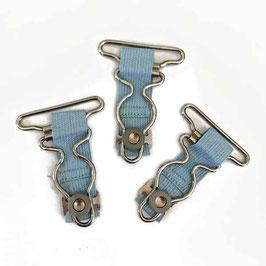 Strumpfhalter 3 Stk. hellblau VINTAGE 1930s
