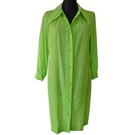 Kleid Gr. L Mantelkleid VINTAGE 1970s GASSMANN ZÜRICH Kleid neongrün