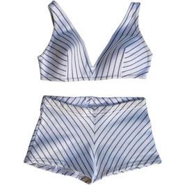 Bikini Gr. S LAHCO VINTAGE 1970s weiss Streifen