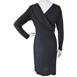 Kleid Little black Dress Designer CERRUTTI 1881 VINTAGE 1980s LBD Gr. S