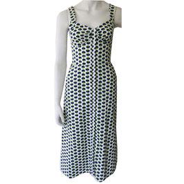 Kleid Trägerkleid Baumwolle VINTAGE durchgeknöpft NOS 70s Gr. XS/S