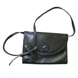 Umhängetasche schwarz Leder VINTAGE 1960s