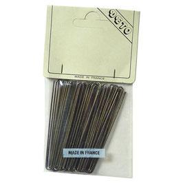 Haarnadeln VINTAGE 1970s hellbraun gerade 5, 6 oder 7 cm lang