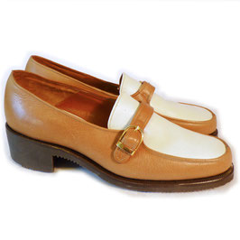 Loafers / Trotteurs BALLY Gr. 38 VINTAGE 80s camel-weiss