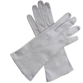 Handschuhe Gr. M Leder hell offwhite VINTAGE 1960s ungefüttert