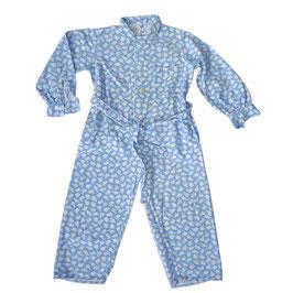 Kinder-Pyjama VINTAGE 1950s Barchent Baumwolle 2-3 Jahre