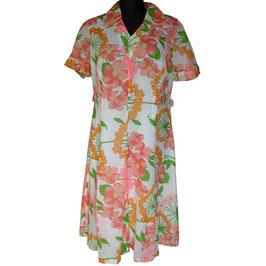Kleid Gr. XL Batist sommerlich leicht VINTAGE 1970s