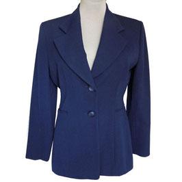 Blazer Gr. M/L CHRISTIAN DIOR Designer 1970s VINTAGE blau