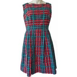 Kleid oA Baumwolle kariert VINTAGE 1960s Gr. M