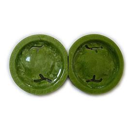 Gürtelschnalle Bakelit VINTAGE 30s grün rund