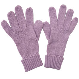 Handschuhe Gr. S Strick lila Fingerhandschuhe Strick VINTAGE 1990s Kaschmir