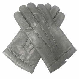 Handschuhe Herren Damen Gr. 8 grau Leder mit Wollfutter Made in Italy VINTAGE 1960s