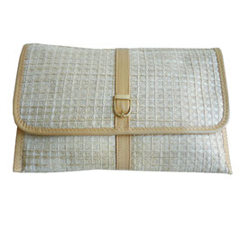 Clutch Pochette Textil beige VINTAGE 1950s