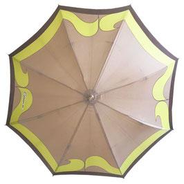 Schirm Damenschirm gross Designer VINTAGE CARVEN 1970s mit Holzgriff