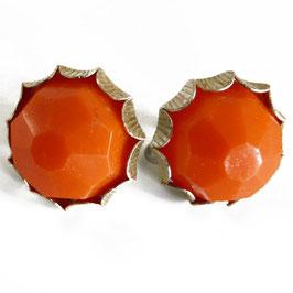 Ohrschmuck zum Schrauben orange 1950s
