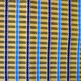 Stoff Baumwolle Schürzenstoff gelb gewoben Streifen VINTAGE 1.50 m