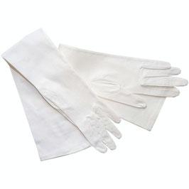 Handschuhe Gr. S festlich, sehr lang Satin VINTAGE 1980s weiss