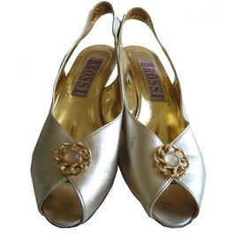 Sandaletten Peeptoe ROSSI 80s gold 39