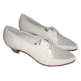 Loafers Trotteurs 50s hellbeige Gitter NOS 36