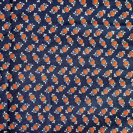 Stoff Baumwolle Dirndlstoff nachtblau m. Herzli VINTAGE 3.30m