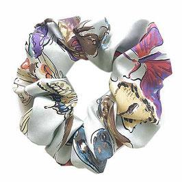Scrunchie Seide Made by Silvia-K Schmetterlinge butterflies