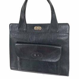 Tasche robustes Leder Aussentasche GOLDSTAR schwarz VINTAGE 1970s