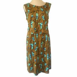 Kleid Sommerkleid Gr. L/XL moutarde-türkis Luisa Spagnoli VINTAGE 1960s